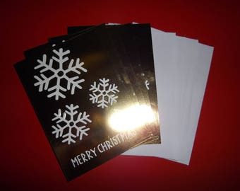 Christmas: set of 5 Christmas themed greeting cards / winter 13.5 x 9.5 cm