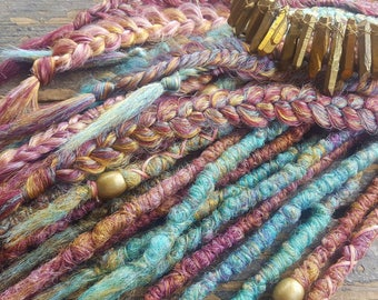 Dreads, Dreadlocks, synthetic dreadlocks, dreadlock extensions, jewel tone
