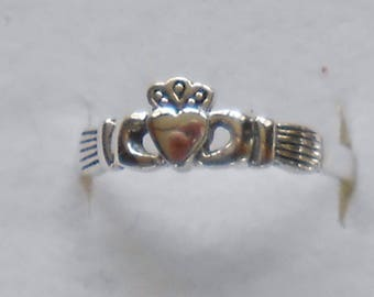 Size 7 Celtic Claddagh Sterling Silver Ring Size New Vintage Wholesale Wedding Band