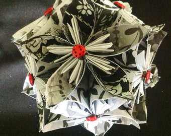 Origami Flower Ball Decoration