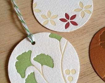 Letterpress Gift Tags (set of 6)