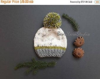 SAVE 25% DISCOUNT Newborn Baby Beanie_Knit  Baby Hat_Baby Pom Pom Hat_Knit Baby Hat_Pom Pom Newborn Baby Hat_Newborn Baby Hospital Hat