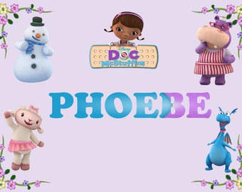 Personalised Childrens Kids A4 placemat DocMcStuffins