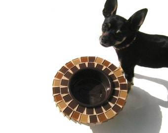 Single Bowl Dog Feeder, Elevated Dog Bowl, Raised Doggie Diner, Pet Bowl, Cat Bowl, Pet Feeding Station, Small Designer Dog Bowl