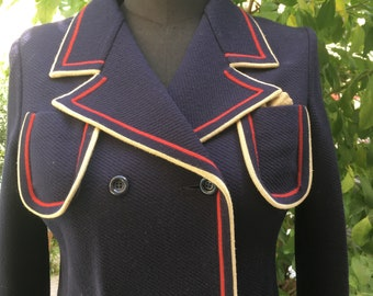 80's Vergin wool Allieri double breasted blazer