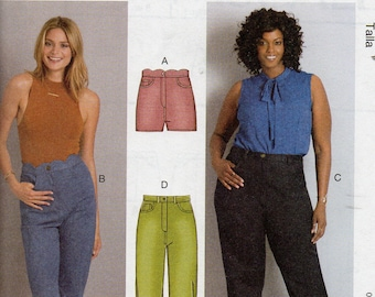 All in One! McCall's Palmer Pletsch Tissue Fitting Method Pattern 7754 SHORTS & PANTS Misses Sizes 8-16 Women's 18W-24W