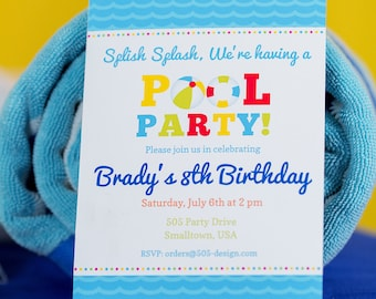Pool party invite etsy pool party invitation instant download boys pool party invitation pool pool party invite by stopboris Images