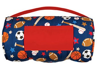 stephen joseph sports nap mat, little boy nap mat, preschool nap mat, pre-k nap mat, baseball nap mat, football nap mat