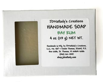 Bay Rum Soap - Homemade soap - Bay Rum Handmade Soap - Soap - Virgin Islands Soap - Handmade - Point Pleasant Resort
