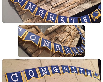 GRADUATION BANNER congrats banner CONGRATS banner personalized with your grads name