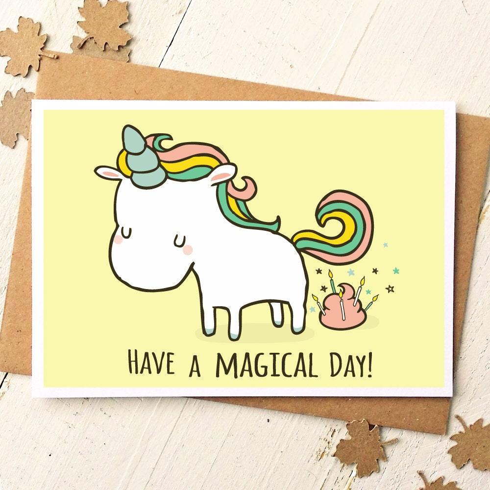 Unicorn card funny birthday card unicorn birthday card zoom m4hsunfo