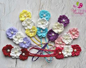 You Pick 1 Baby Headband - 7 colors - Ready to Ship - Baby Hairbows - newborn Headbands - Baby hair accessories - headband baby - Baby bows