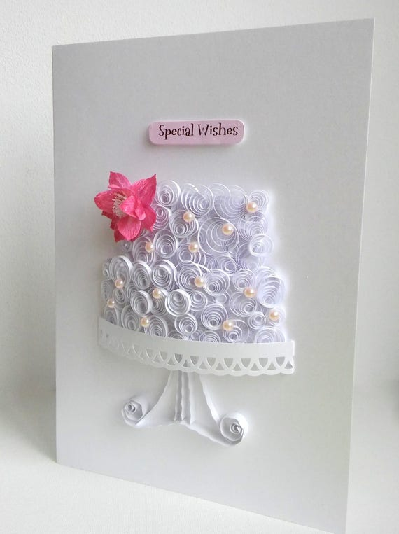 Wedding cake card birthday cake card paper cake card cake stopboris