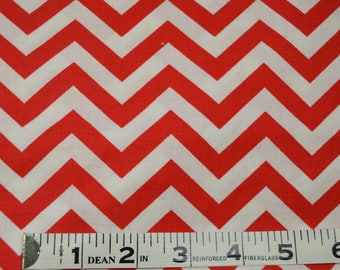Item 310, 100% Cotton, Red Chevron, By the Yard