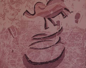 Elephant with Propellors - Archival Art Print