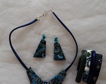 blue fabric ornament