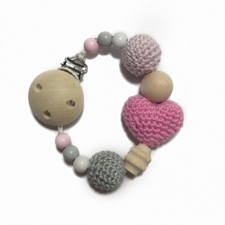 Pacifier Heart Crochet