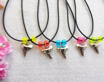 10 Tooth Shark Necklaces party Favors