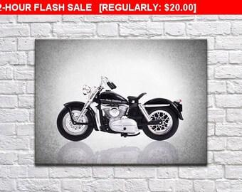 1952 Harley Davidson K model side view print, motorcycle decor, Motorcycle poster, motorcycle poster, Harley Davidson, wall print