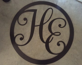 "HUGE 40"" METAL MONOGRAM"