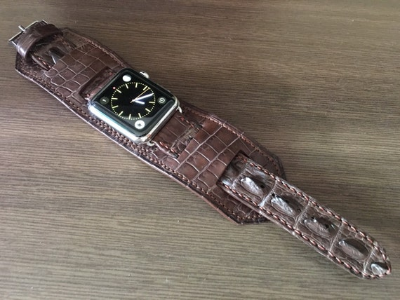 Apple Watch Band, Apple Watch Strap, iwatch, Vintage Brown, Leather Cuff Watch Band, full bund strap, Cuff Watch Strap, Apple Watch 42mm