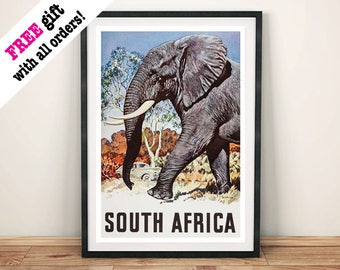SOUTH AFRICA POSTERS: Vintage Travel Adverts, Art Prints