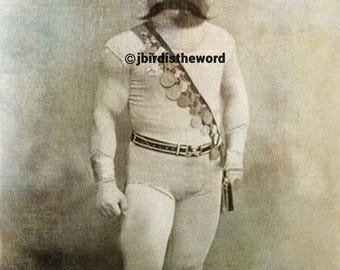 Strongman, Carnival Wall Print, Carnival Photo Print, Circus Theme Decor, Vintage Circus, Nursery Print, Circus Art, Creepy Cute, Weird