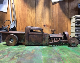 Hot Rod pick up recycled metal