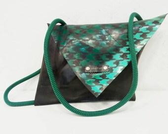 Inner Tube Messenger Bag, Eco Crossbody Bag, Rubber Crossbody Bag, Convertible bag, Inner tube shoulder bag, vegan shoulder bag, vegan bag