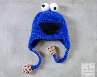 Cookie monster crochet kid's hat