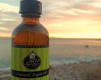 Oatmeal ORGANIC ARGAN OIL || Cold Pressed || Available in a 2 or 4 oz glass bottle || Luxurioius Body Oil  and Hair Oil