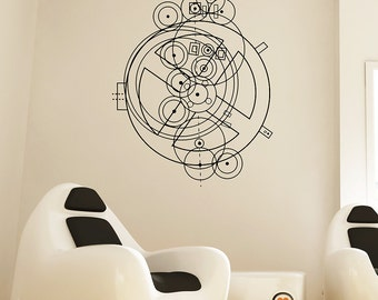Science art - Antikythera Mechanism schematic vinyl wall decal - the first computer scientific decoration (ID: 121051)