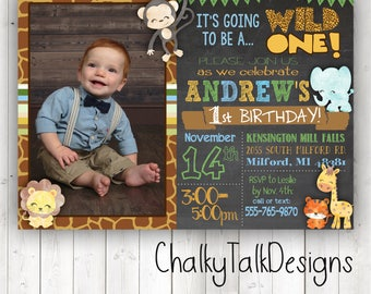 Offishally 1 birthday invitations reeling in the big one safari invitation first birthday invitation zoo theme invitation wild one party invitation filmwisefo Image collections