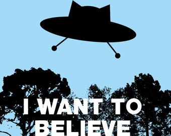 The X-Files: I Want to Believe. sticker 3.9 x 3.9 in