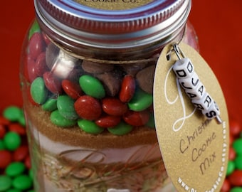 Christmas Cookie Mix - Mason Jar Cookie Mix
