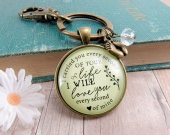 I Carried You Every Second of Your Life Miscarriage Keychain Baby Loss Remembrance Memory Of Memorial For Mom Keepsake Gift Baby Feet Charm