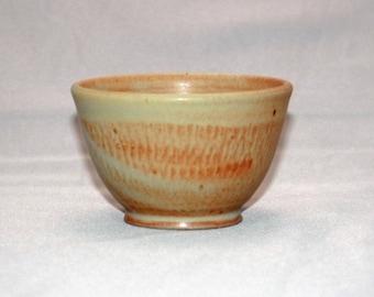 Yellow and Orange Tea or Sake Ceramic Cup, Yunomi, Guinomi, Dips Bowl, Modern Home Decor, Kitchen Spice Bowl