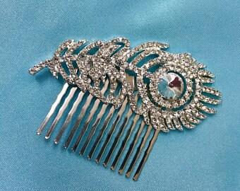 Wedding Feather Fascinator, Bridal Feather Fascinator, Wedding Feather Headpiece, Bridal Feather Headpiece, Wedding Feather Fascinator Comb