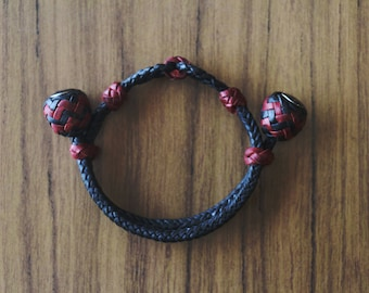 "Kangaroo Leather ""Gemini"" Bracelet"