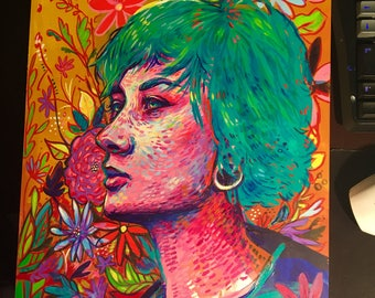 Flower Girl - Original Acrylic Painting