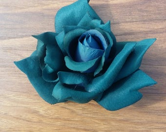 Teal Rose - wedding - millinery - home decor