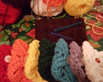 Crochet Rainbow Teabag holders