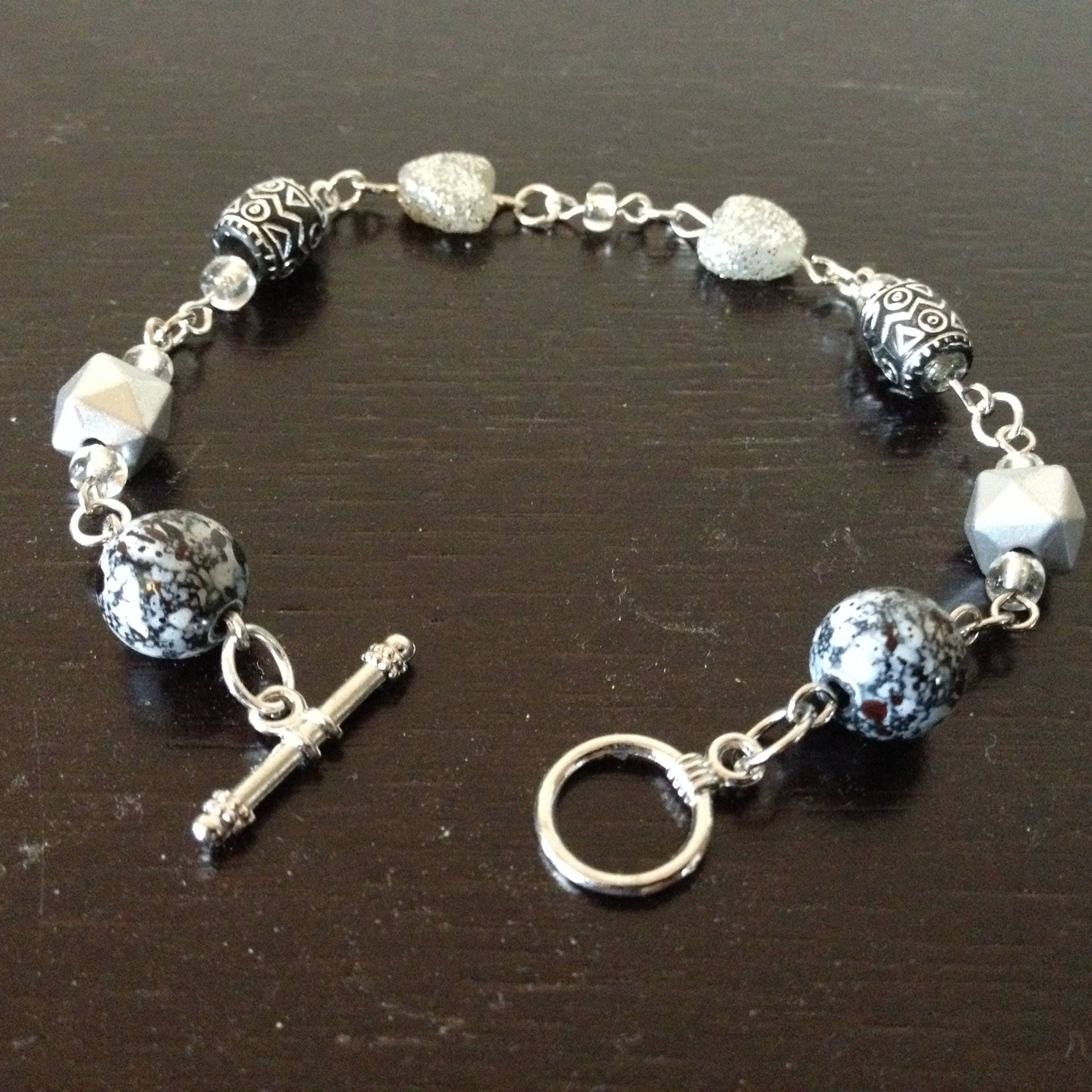 nouveau silver style handmade chalcedony en chain and home art sterling bracelet