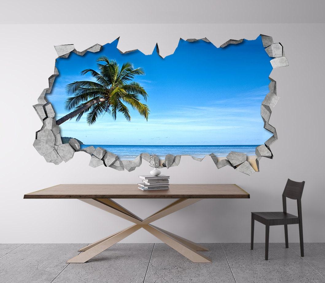 Tropical Beach 3d wall 3D Wallpaper 3d Wall Art 3d