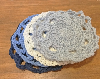 CROCHET LACE COASTERS: crocheted / gift / customize / housewarming / birthday / wedding / lace coaster / home decor / cozy / canadian / yyz