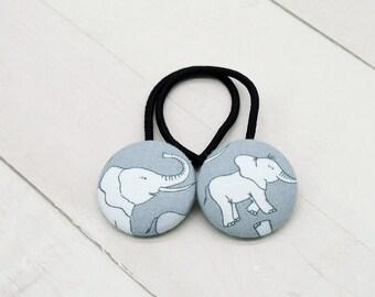 Elephant Ponytail Holder, Elephant Hair Tie, Elephant Gift, Elephant Party Favor, Zoo Accessory, Lucky Elephant, Elephant Birthday