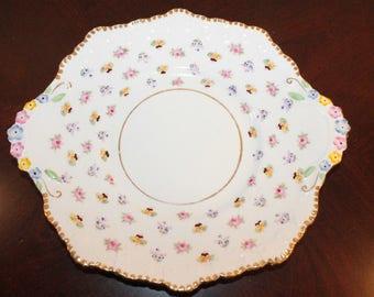 Royal Stafford Rose Pansy Forget Me Not Dessert Platter
