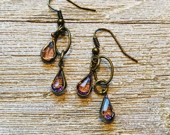 Amethyst Drops Earrings