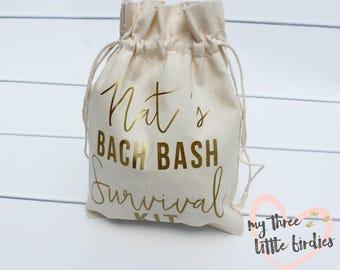 Customized Party Favors for Bachelorette Party, Bachelorette Survival Kit Bag, Gift for Bridesmaids, Hangover Kit, Thank you gift for guests