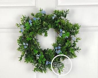 Small Wreath, 10 inch Grapevine Wreath, Boxwood Wreath, Summer Wreath, Front Door Wreath, Window Wreath, Wall Wreath, Spring Wreath